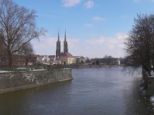 River Odra and Cathedral Island