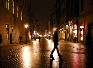 Kraków Streets at Night