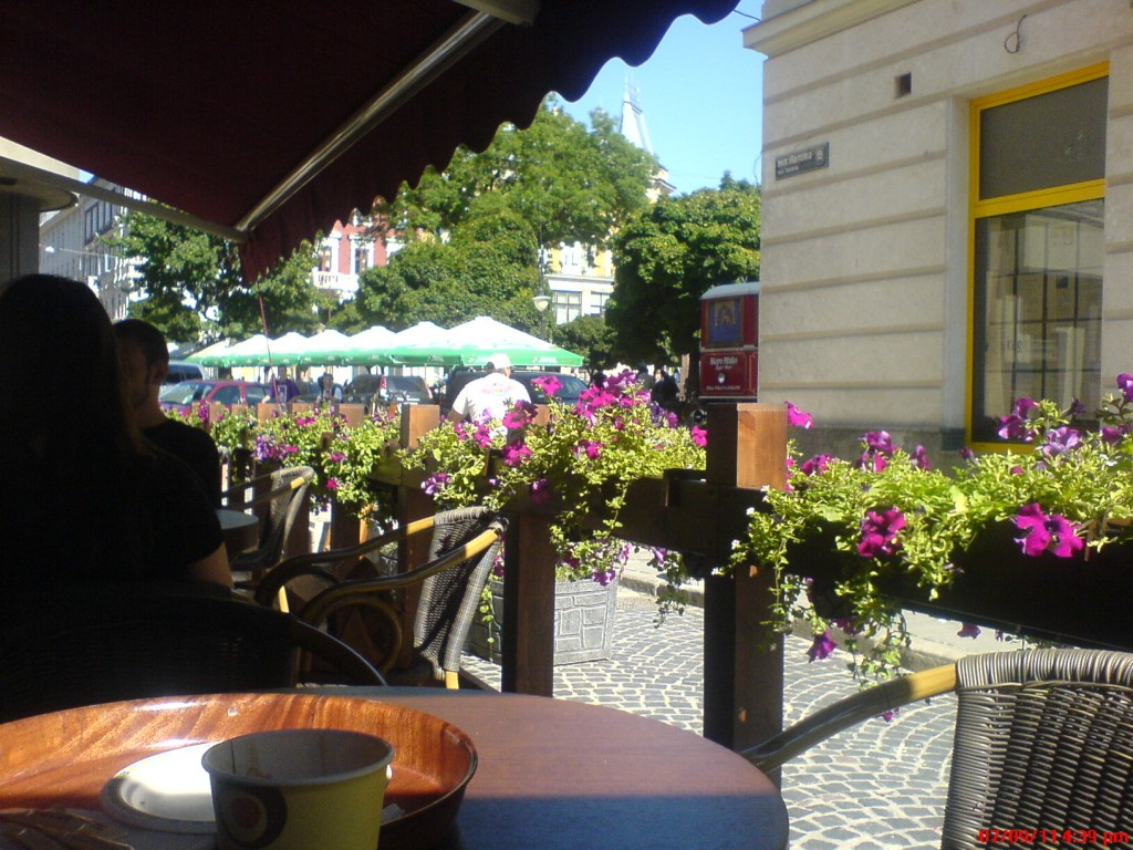 A view from a Lvivian cafe.