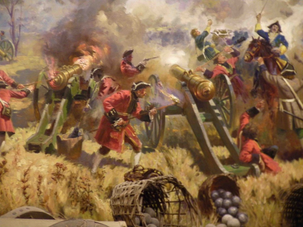 Detail of Painting of Battle of Poltava
