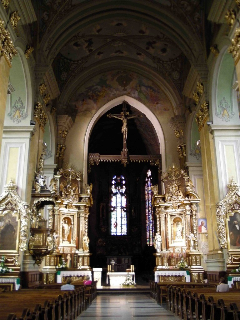 Catholic Church interior.