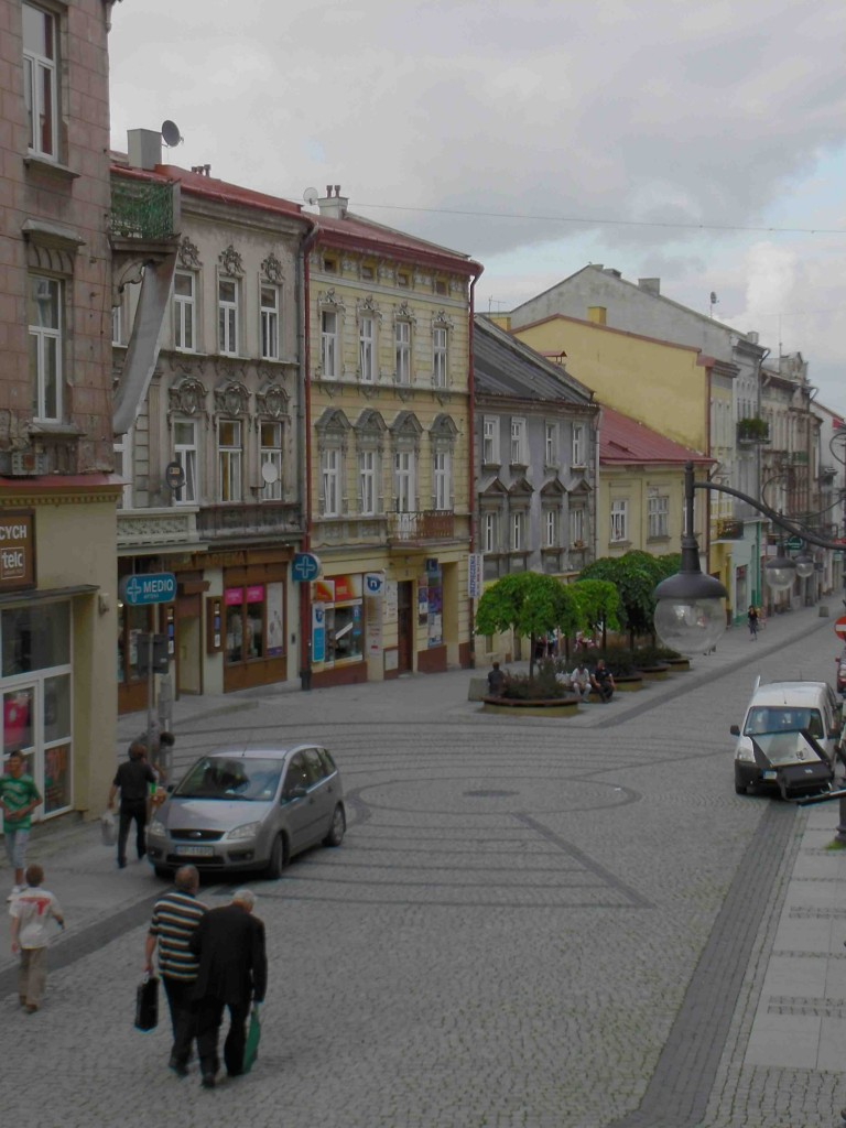 Przemsyl street during the day.