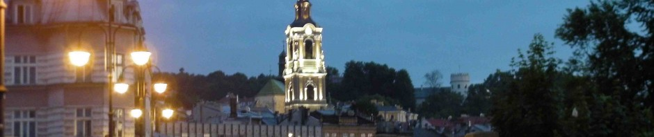 Przemysl at night.