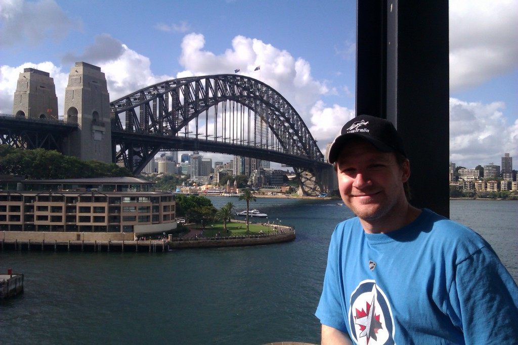 A photo of the author in Sydney, Australia.