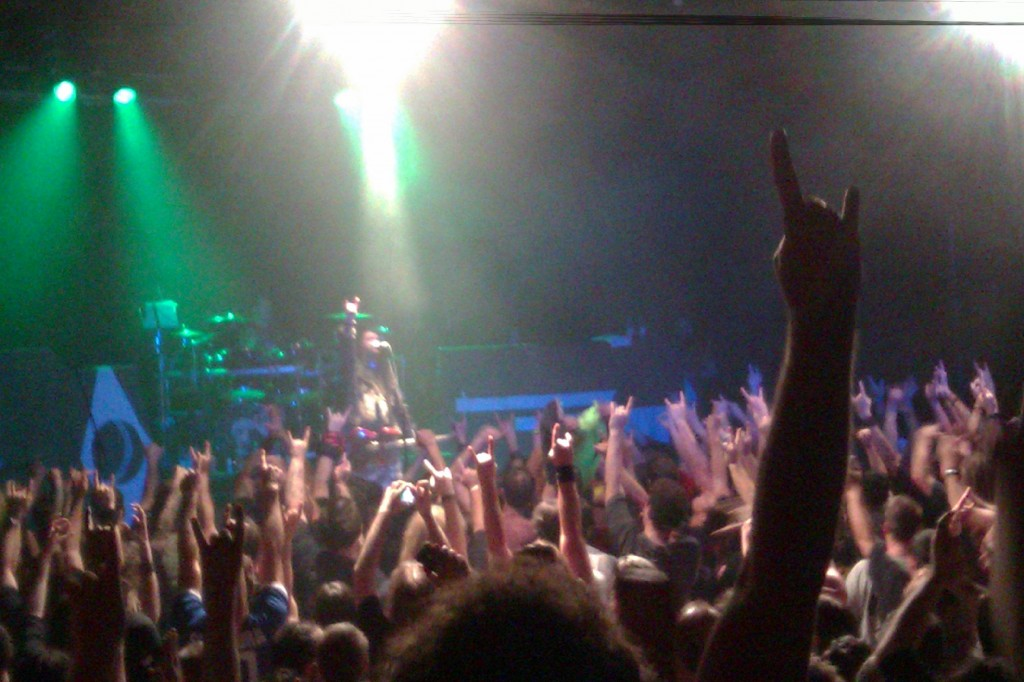 Metal salute at Cavalera Conspiracy.