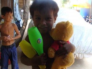 Lively kids at the orphanage in Cambodia.