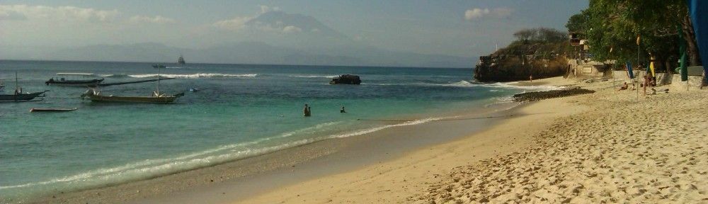 Idyllic beaches along the coast of Bali.