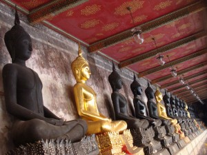Row of Sitting Buddhas