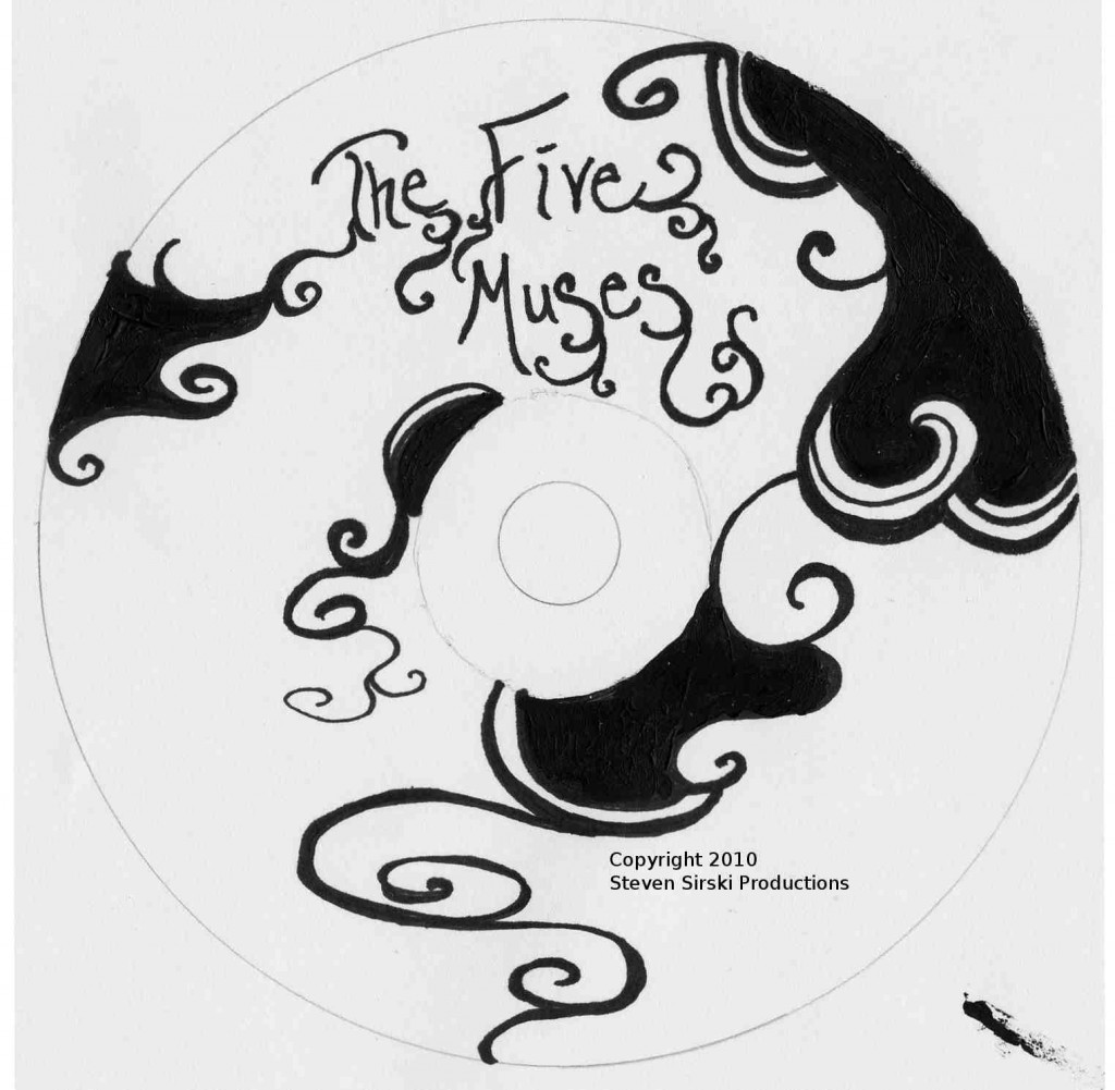 The Five Muses DVD Label. Artwork by Jessica D. McGowan.